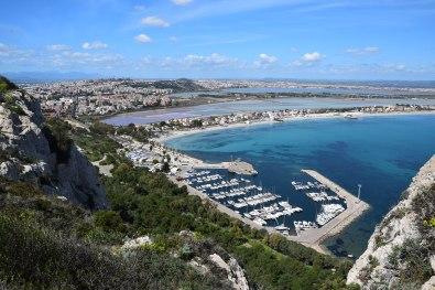 View on the port of Marina Piccola (Sella del Diavolo - Cagliari)